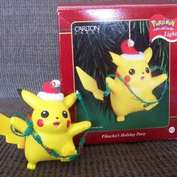 Pikachu's Holiday Party Ornament - Carlton Cards