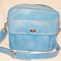 Columbian Blue Shoulder Tote