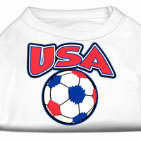 USA Soccer Screen Print Shirt White XL (16)