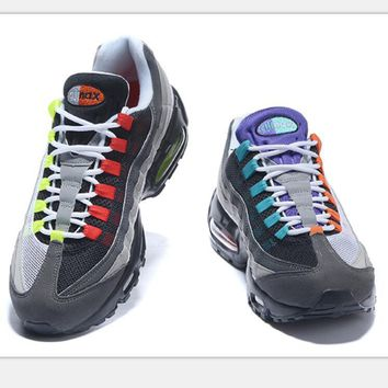 NIKE Air max Sneakers Running Sports Shoes black red yellow H-CSXY