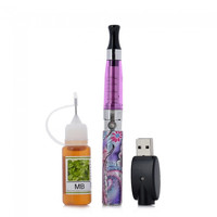 EGO-Q4 Rechargeable 650mAh Electronic Cigarette with Atomizer / 10ml MB Flavor Tar Oil E-Liquid Purple - Default