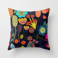 Magic garden Throw Pillow by Anny Cecilia Walter