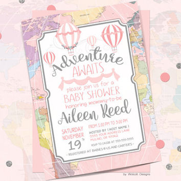 Best Hot Air Balloon Baby Shower Invite Products On Wanelo