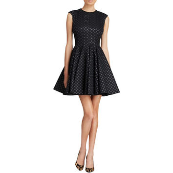 JILL Jill Stuart Womens Textured Polka Dot Mini Dress