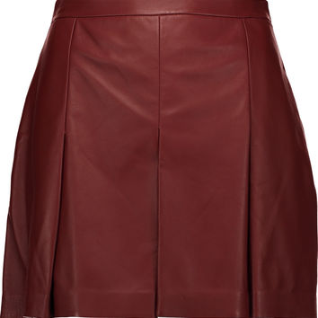 Pleated leather shorts | Proenza Schouler | US | THE OUTNET