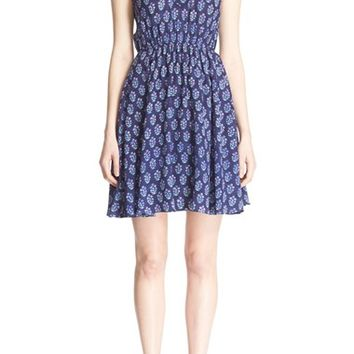 Rebecca Taylor Print Silk Fit & Flare Dress | Nordstrom