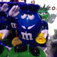 M&M's World Blue Characters as Policeman Candy Dispenser New with Tags
