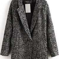 Fashion Heather Coat - OASAP.com