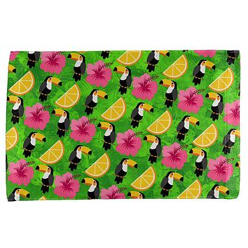 Tropical Vacation Tucan Pattern All Over Hand Towel