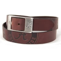 Alabama Crimson Tide NCAA Men's Embossed Leather Belt (Size 38)