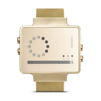 Zirc V Mesh Gold Watch -