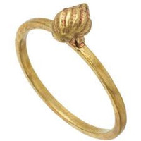 verameat | shell ring in brass