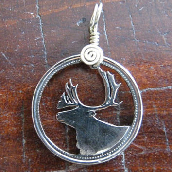 Deer, Browning, Cut Coin Jewelry