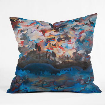 Brian Wall Fine Art Blue Horizon Throw Pillow