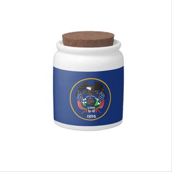 Utah State Flag Candy Jar