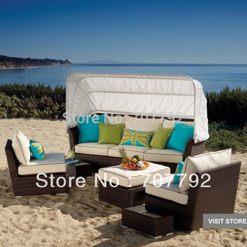 Patio Furniture And Outdoor rattan sofa set