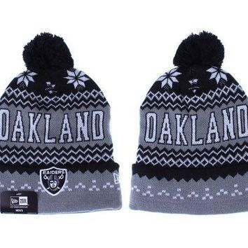 ESB8KY Oakland Raiders Beanies New Era NFL Football Hat
