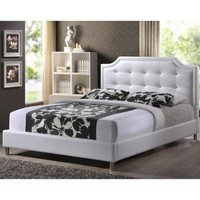 Carlotta Designer Bed with Upholstered Headboard