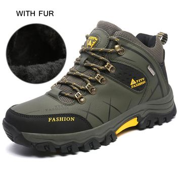 Waterproof Hiking Shoes For Men Mountain Climbing Boots Breathable Climbing Camping Shoes Outdoor Mountaineering Hunting Sneaker