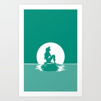 Little Mermaid Art Print by MargaHG
