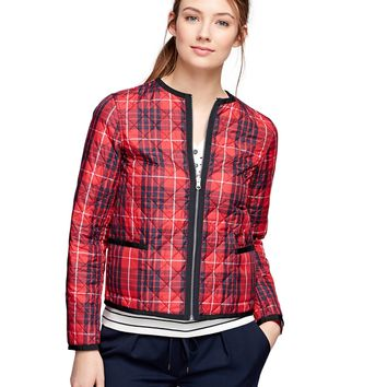 Women's Plaid Quilted Reversible Puffer Jacket | Brooks Brothers