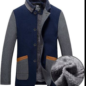 Men's Coats Jackets Winter Wool Blends