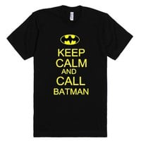 call batman-Unisex Black T-Shirt