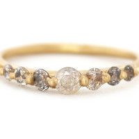 Light Grey Ombre Diamond Halo Ring « Bespoke Designer Jewellery | Polly Wales