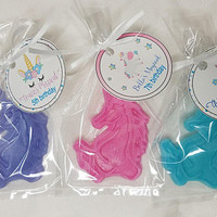 Unicorn Baby Shower Favors - Magical theme soap, custom made with tags & bags | Pack of 10