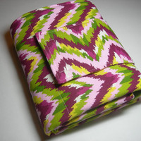 Pink, Purple & Green Chevron Travel Diaper Changing Pad