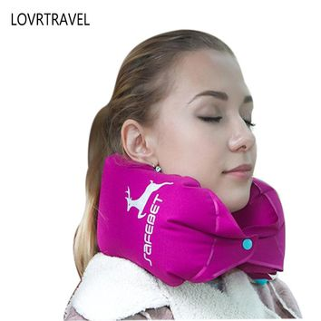 Multipurpose Inflatable Travel Pillow Neck Airplane Head Rest Air Cushion for Travel Office Head Rest Air Cushion Lumbar Pillows