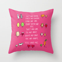 You and Me Throw Pillow by Dale Keys | Society6