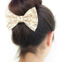floral BIG hair bow (S-N-003)