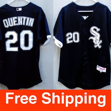 Vintage Baseball Jersey, Chicago White Sox, Majestic Jersey, Carlos Quentin, Size Adult Large 48