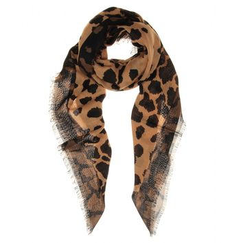 mytheresa.com -  Wool, silk and cashmere-blend printed scarf  - Luxury Fashion for Women / Designer clothing, shoes, bags
