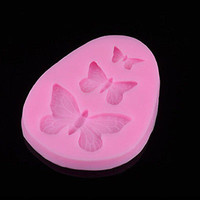 Butterfly Silicone Mold Mould Fondant Icing Decoration Wax Soap Clay Resin 3C#