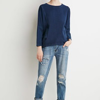 Contemporary Oversized Front-Pocket Dolman Sweater