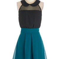 ModCloth Mid-length Sleeveless A-line How Do You Deux? Dress