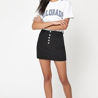 John Galt Exposed Button Mini Skirt at PacSun.com