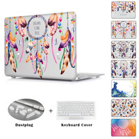 Dream catcher peacock feathers Pattern Great Laptop Case For Macbook Pro 13 A1278 Clear Hard Case For Macbook Air 13 15 inch