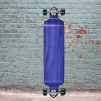 "Blue Drop Down 41"" Longboard Woodie Decks"