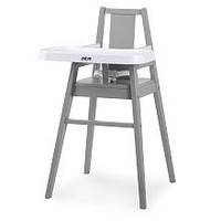 Zobo Summit Wooden High Chair - Stone