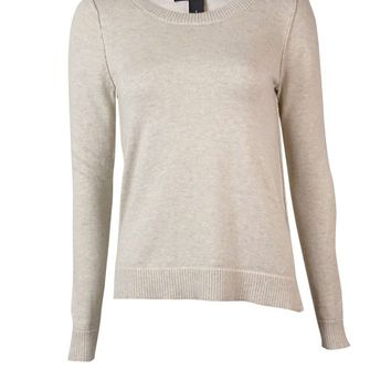 INC International Concepts Women's Inverted Seam Sweater