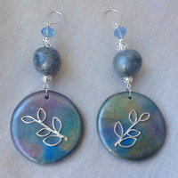 Handmade Polymer Sterling Silver Earrings
