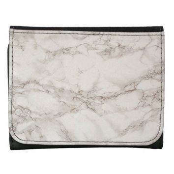 Marble Stone Leather Wallet