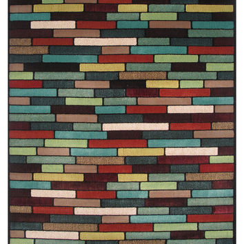 Swing 5' X 8' Multi-Color Area Rug