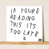 Drake: If Youre Reading This Its Too Late Vinyl Record - Urban Outfitters