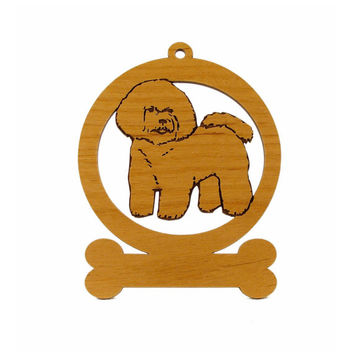 Bichon Frise Ornament 081740 Personalized With Your Dog's Name