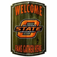 NCAA Oklahoma State Cowboys Wood Sign