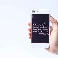 Your actual handwriting on a phone case for iPhone 5/5s, handwritten message, unique phone case, mother's day gift, birthday phone case